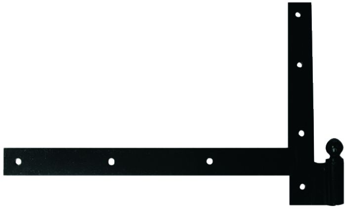 Ferrure de volet et portail : A pivot équerre acier cataphorèse noir