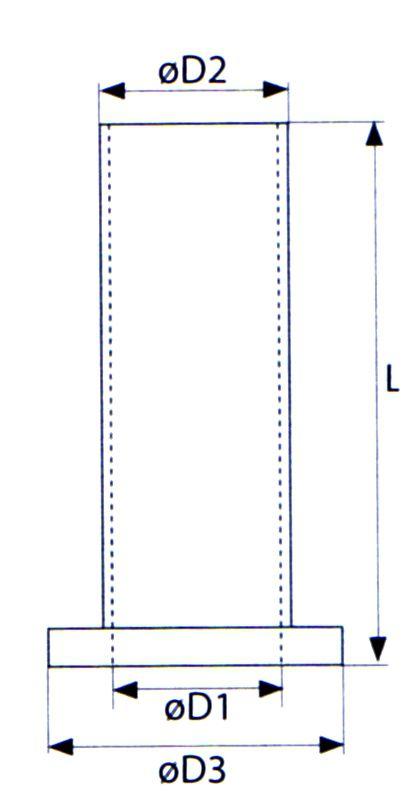 BAGUE RENOV.PENTURE ALU NOIRE D1=14