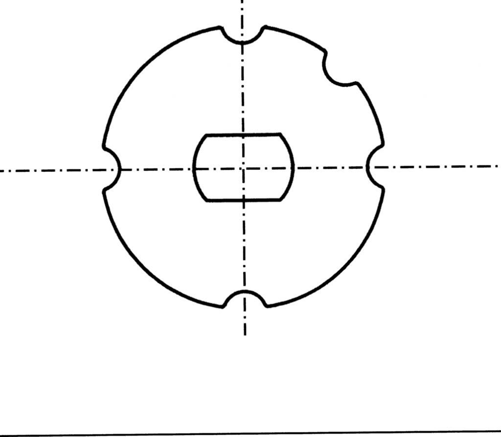 Motorisation fenêtre et volet : Adaptateur axe 40 mm pour type 8