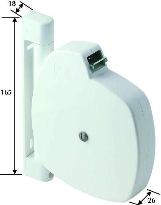ENROULEUR PVC BLANC SANS SANGLE