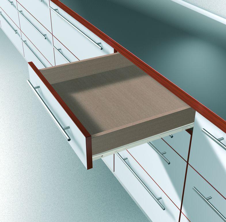 Coulisse à galet nylon : Sortie partielle - 25 kg dynamique