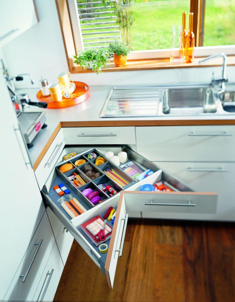 Agencement de cuisine : Blum Tandembox - Space Corner