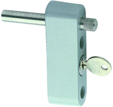 Accessoire pour baie coulissante : Limiteur d'ouverture à clé pour fixation en applique