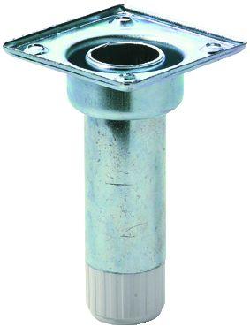 Pied de meuble ø 28 mm : ø 28 mm avec vérin et embase démontable
