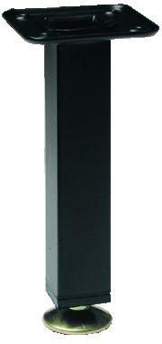Pied de meuble carré : Section 25 x 25 mm - livré avec vérin