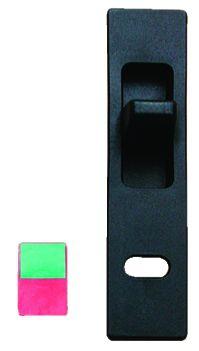 Accessoire pour baie coulissante : Bouton plastique noir pour fermeture 2339