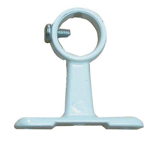 Accessoire pour penderie : Piton sur platine avec vis d'arrêt - saillie 50 mm