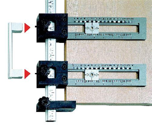 Garniture contemporaine : Gabarit de perçage bouton et poignée