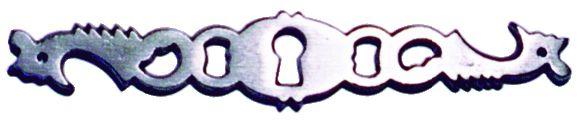 Garniture de style : Fonte - entrée coq chanfreinée pour tiroir