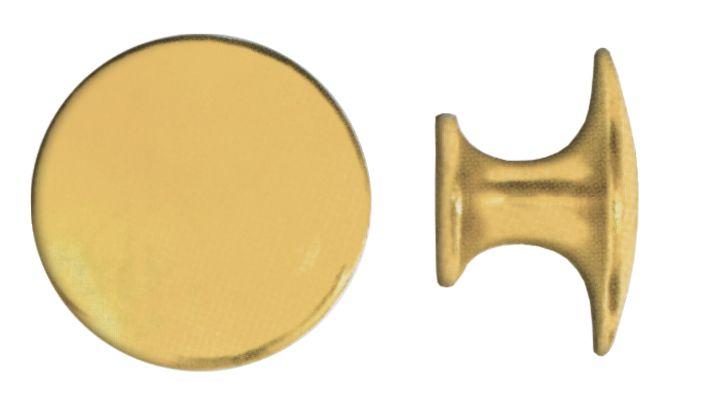 Garniture de style : Bouton lentille laiton poli verni