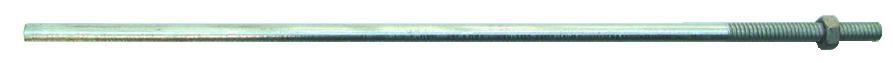 Visserie pour charpente - bardage - toiture : Tige filetée avec écrou