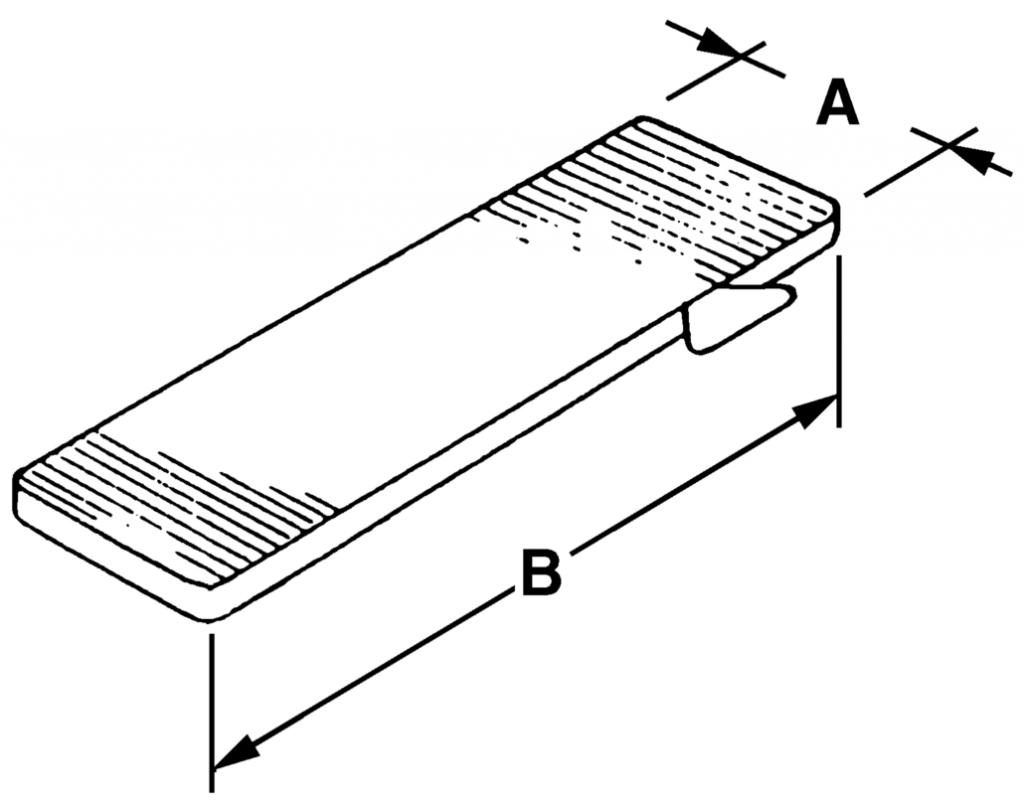 Calage : Cale de vitrage plastique