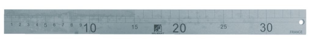 Jauge de charpentier : Inox gravé