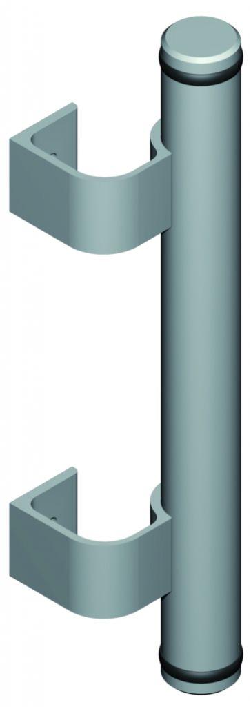Poignée de porte battante : Poignée barreau alu Diva I complète