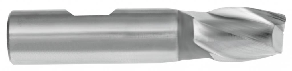 Fraise HSSE\frittée : Fraise 2 ou 3 dents - queue cylindrique Weldon inox / acier / alu