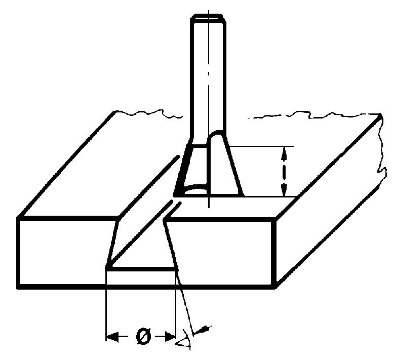 Fraise à bois : Fraise queue d'aronde