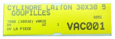 Ordonnancement : Porte-étiquette adhésif transparent