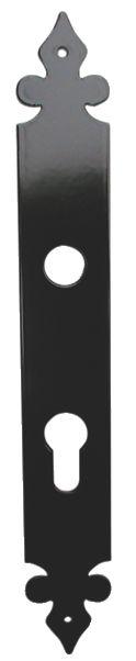 Accessoire pour bouton et béquille : Plaque rustique - alu laqué noir