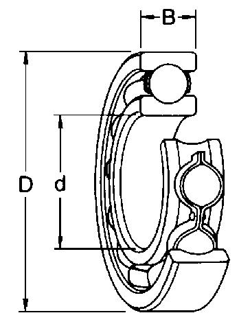 Roulement à billes : Type 2RS1C3 avec 2 joints étanches
