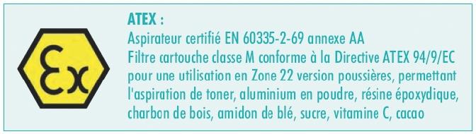 """Aspirateur : XC 70 - eau et poussière """"zone Atex"""""""