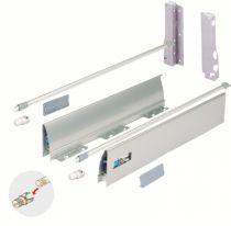 Côté de tiroir double paroi hettich : Hauteur 144 mm
