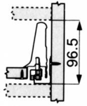 Tiroir complet monté Blum - caisson standard - Tandembox : Tandembox gris hauteur M