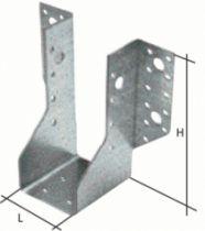 Connecteur métallique assemblage bois : Sabot à ailes extérieures et intérieures