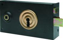 Serrure de grille en applique : Façon gorge - 2 clés