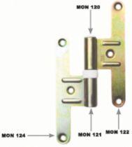 Paumelle pour le bois : Acier bichromaté - accessoire pour paumelle réglable