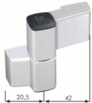 Paumelle PVC et aluminium : Paumelle série 60 AT pour porte aluminium jusqu'à 140 kg