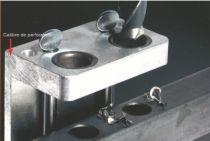 Serrure de grille en applique : Calibre de perforation pour serrure type LC