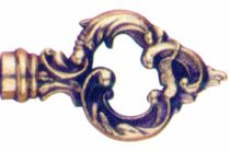 Garniture de style : Fausse clé laiton poli verni