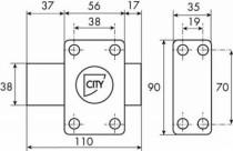 Verrou de sûreté Iséo : A bouton - cylindre 6 goupilles ø 26 - série City ISR6