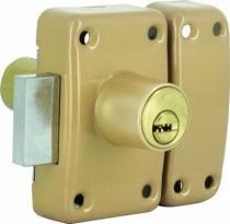 Verrou de sûreté Iséo : A 2 entrées - cylindre 6 goupilles - ø 26 - série City R6