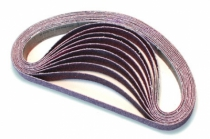 Outillage air comprimé : Bandes abrasives sachet de 10 bandes 20 x 520 mm