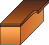 Fraise à bois : Mèche d'affleureuse droite 2 coupes avec guide à billes