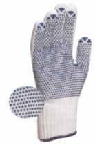 Gants tricotés : Gant tricoté en polyester coton