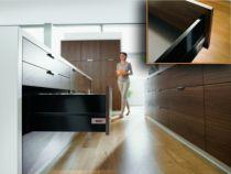 Tiroir complet monté standard Blum - intivo - TIP-ON : intivo TIP-ON noir hauteur D - BOXCAP