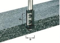 Fraise spéciale pour matière minérale et synthétique : Fraise à biseauter à plaquettes réversibles ER à roulement