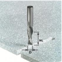 Fraise spéciale pour matière minérale et synthétique : Fraise hélicoïdale en acier plein au carbure dégrossissage-finitio
