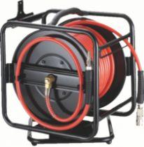 Tuyau et enrouleur à air comprimé : Enrouleur à tambour ouvert - 30 m