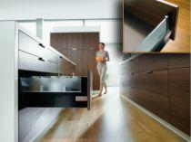 Côté de tiroir double paroi Blum - emballage industriel : Côté de tiroir Intivo noir - hauteur D