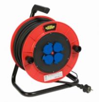 Enrouleur - prolongateur : Série TRB4 - câble HO7 RN-F avec disjoncteur thermique