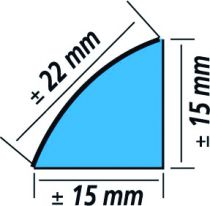 PROFIL ETANCHEITE ALU 1/4 ROND 3M15