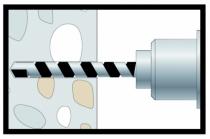 Cheville pour fixation lourde : Goujon d'ancrage indémontable TAM VS