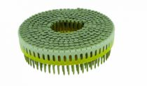 Agrafage et clouage pneumatique : Pointe tête plate crantée claire - pour Paslode CNP 65 1.S
