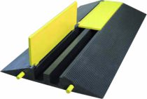 Protection des personnes et matériel : Protège-câbles jaune et noir