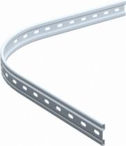 Ferrure de porte coulissante et pliante Mantion : Rail courbe pour série Bob 50