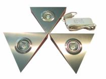 Luminaire halogène : Kit Pyramide inox - 3 x 20 W /12 V