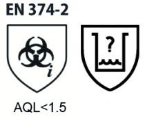 Gants à usage unique : Latex poudrés - AQL 1,5